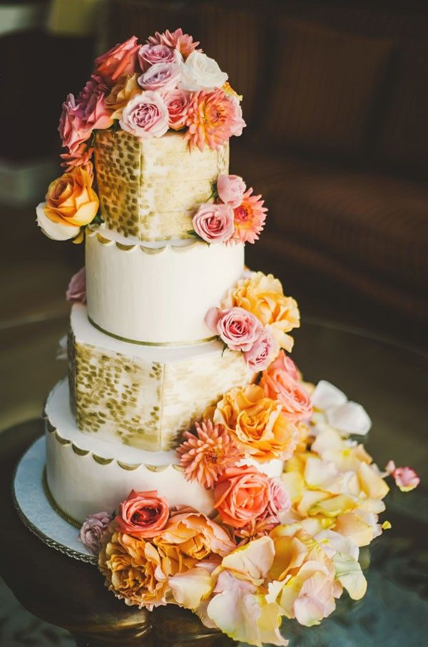 Flower wedding cake wedding cake ideas for small weddings
