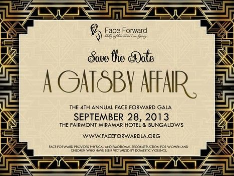 Einladung - The Great Gatsby Art Deco Save The Date #2418906 ...
