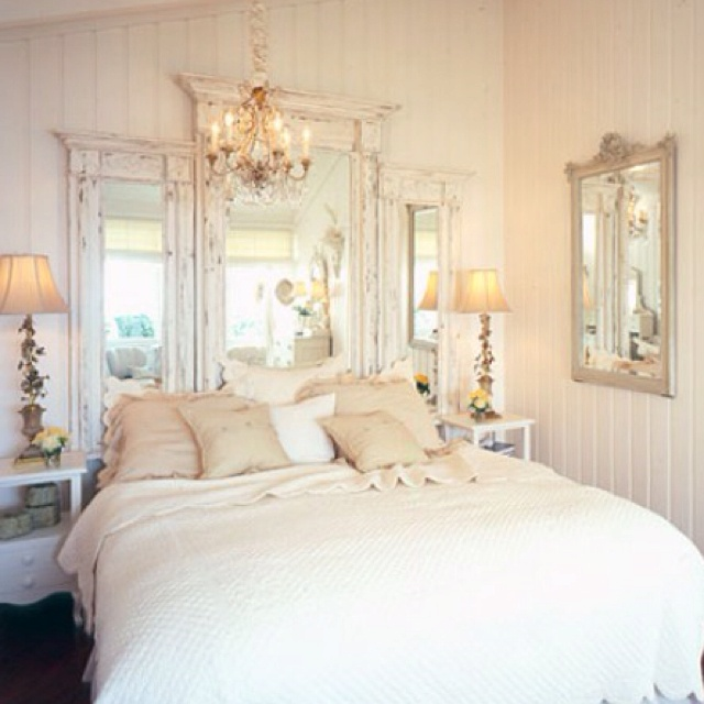antique mirrors as headboard for the home pinterest