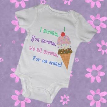 Ice cream baby clothes pinterest