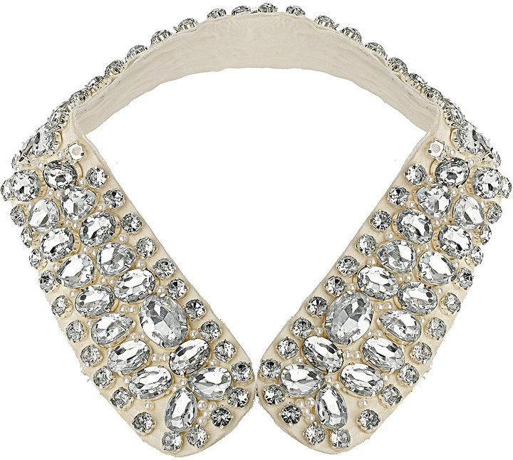 Collar necklace... we love for this for your classic white button down shirt.