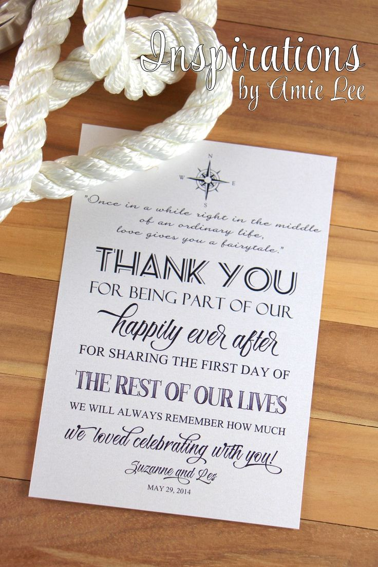 Wedding Table Thank You cards | Inspirations by Amie Lee | Pinterest: pinterest.com/pin/30962316163752597