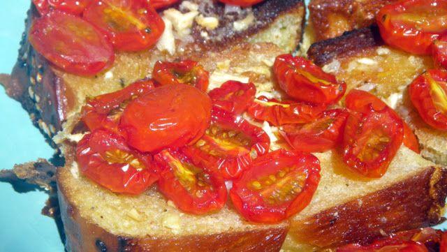 Inspired By eRecipeCards: Roasted Garlic and Tomato Bruschetta (L ...