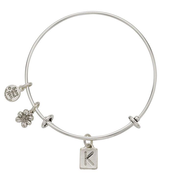 letter k charm bangle bracelet With letter k bracelet
