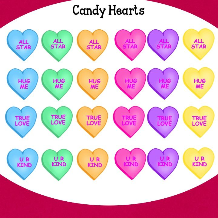 Valentines day candy banner pictures