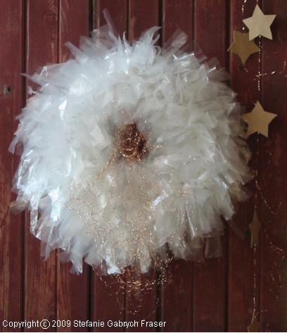 Plastic Bag Christmas Wreath