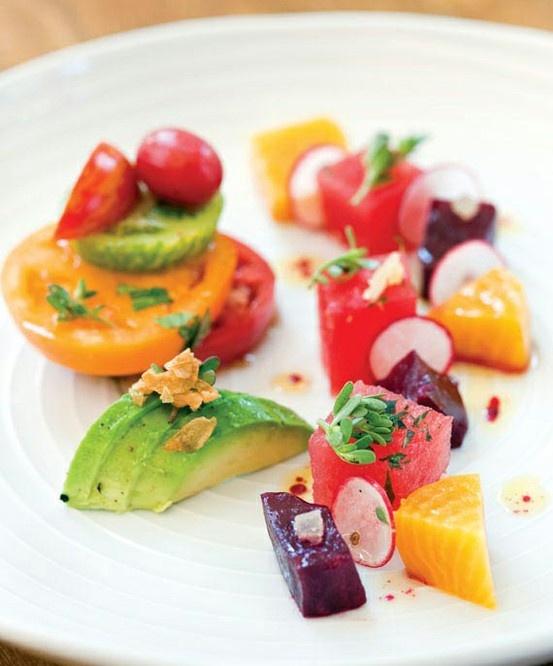 tomato, beet, avocado, and radish salad | fuckin french toast | Pinte ...