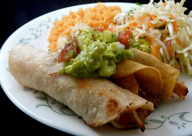 Crispy Chicken Flautas from Food.com: Crisp flautas are usually fried ...