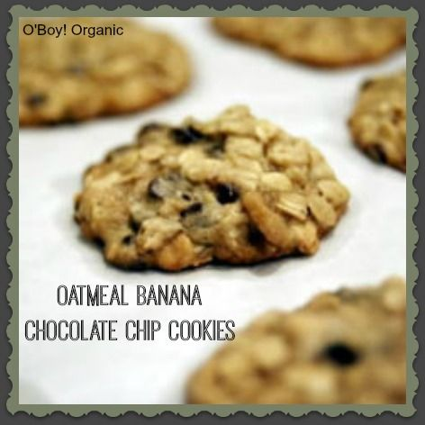 Oatmeal Banana Chocolate Chip Cookies | Food and Drink | Pinterest