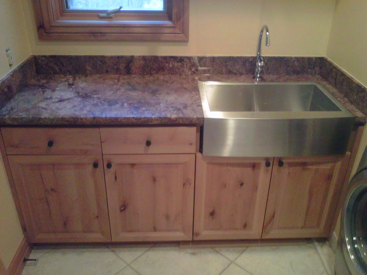 Granite Laundry Sink : July 12, 2012 -Laundry Room With Custom Stone Counter Top