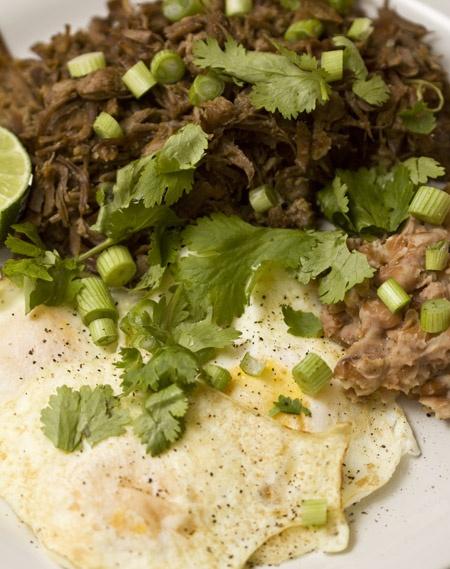 Barbacoa & Eggs THM, do not use beans or corn tortillas, (S)
