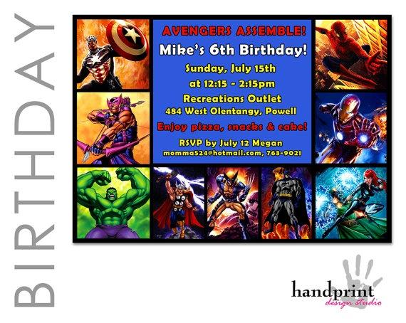 AVENGERS Superhero Birthday Invitation Hulk by HandprintDesign, $10.00