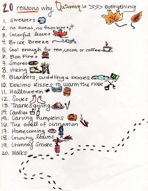 20 reasons why i love fall things i enjoy pinterest