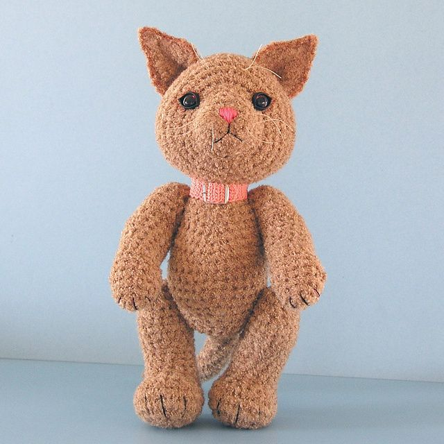 Free Crochet Tabitha, A Toy Cat pattern. Crochet addict ...