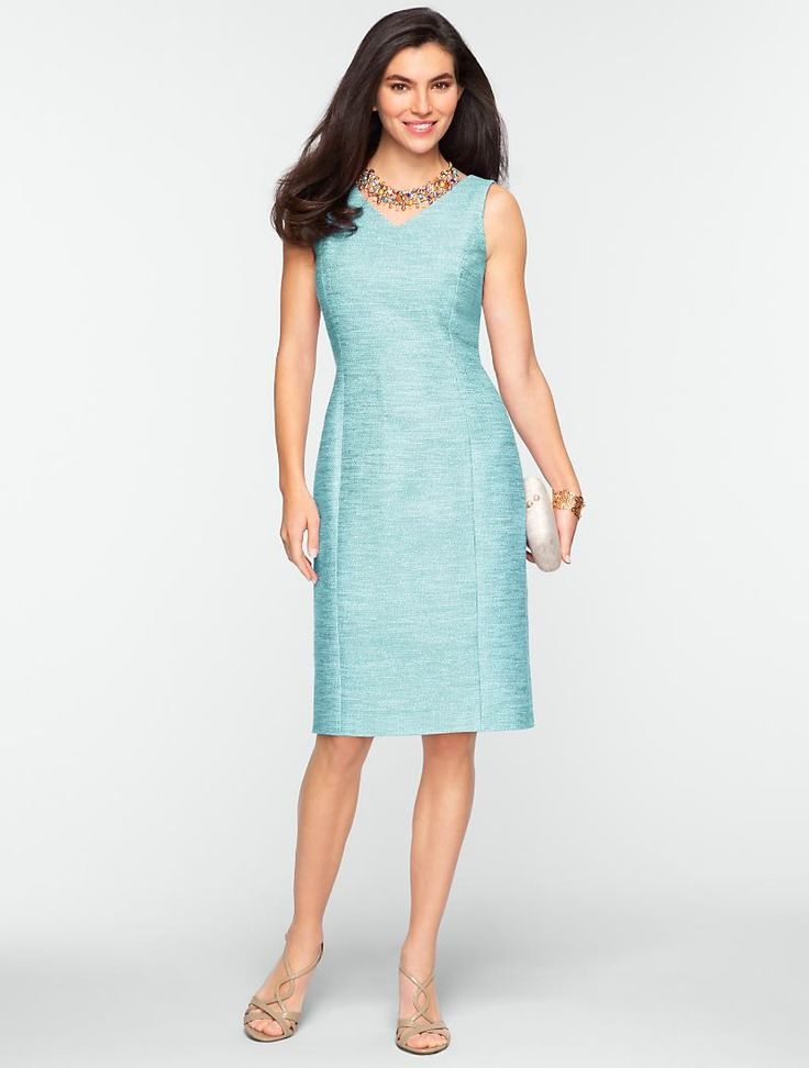 V neck dress for a casual day wedding mother of the for Talbots dresses for weddings