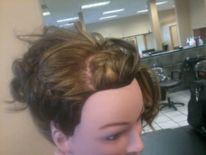 Braid updo | Hairstyles#updo's | Pinterest