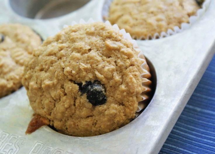 Gluten-free Oatmeal & Quinoa Blueberry Muffins found here: http ...