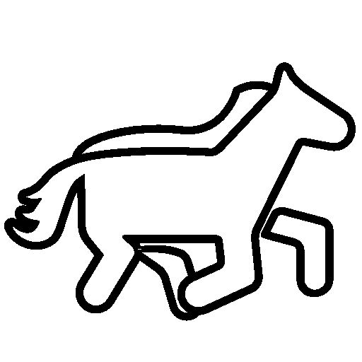 Horse outline cartoon free icon: www.pinterest.com/pin/307511480778407818
