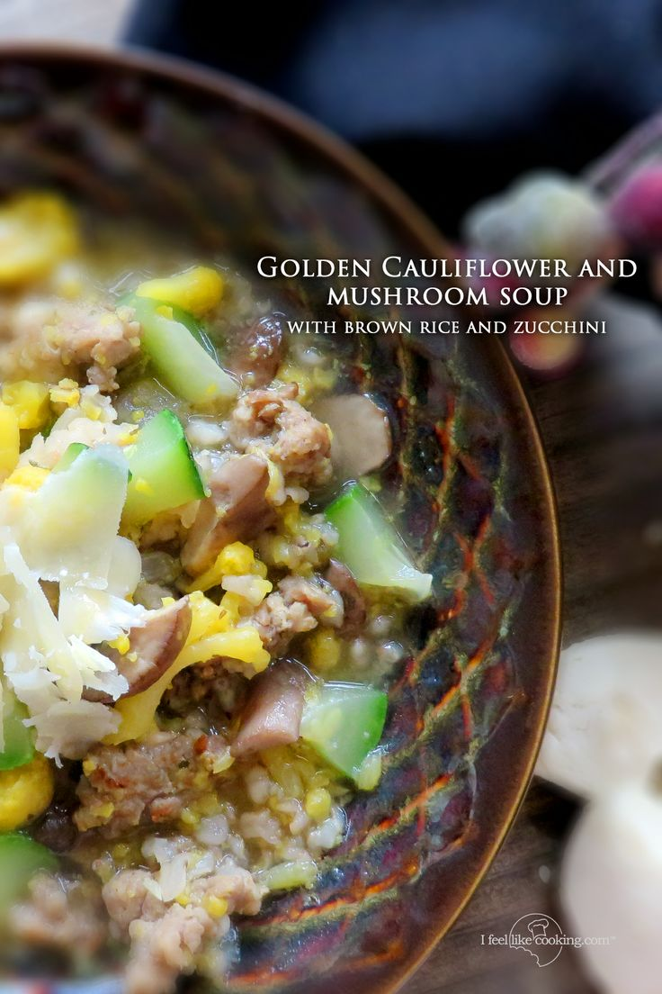 ... featured recipe blog golden cauliflower soup satisfies on a rainy day