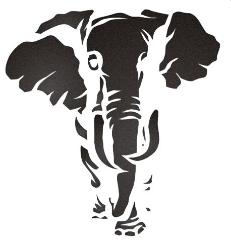Elephant Stencil  This would make a nice pattern Elephant Head Stencil