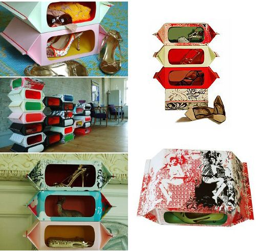 cardboard shoe organizer
