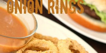 Low Fat Baked Onion Rings Amazing Sauce | Favorite Recipes | Pintere ...