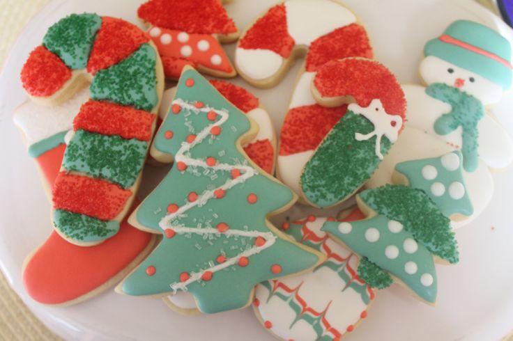 Decorated Christmas Sugar Cookies 1 dozen by SweetNaomiCookies, $25.00