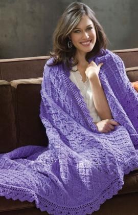 Free Knitting Patterns For Lace Yarn : Pin by Red Heart Yarns on Ahh-Inspiring Afghans Pinterest