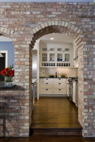 Brick kitchen arch love it i shall add it to my never ending list