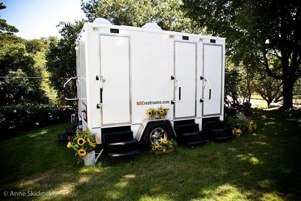 Portable bathrooms for outdoor weddings home decoration for Outdoor wedding bathroom ideas