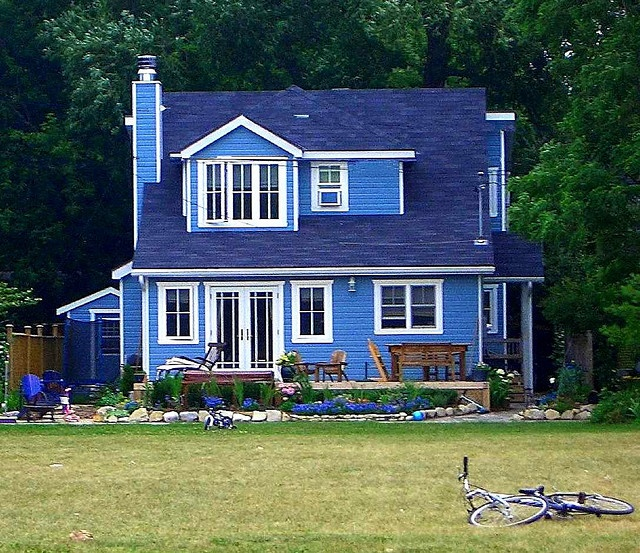 blue house blue houde pinterest