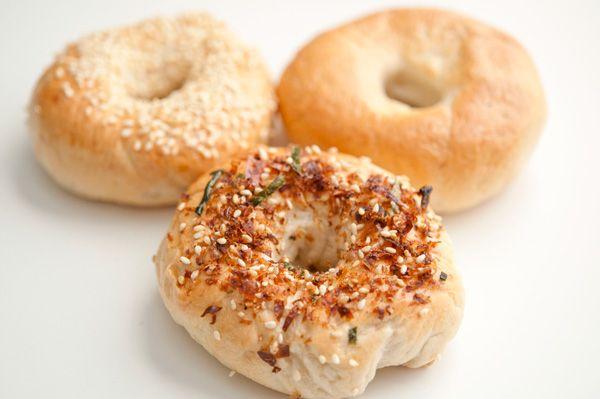 Homemade bagels: Japanese-style furikake bagels