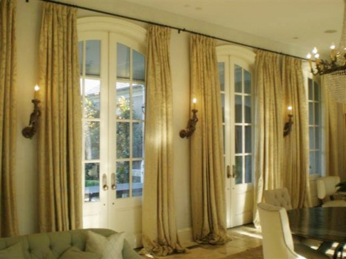 Floor to ceiling drapes window dressings pinterest for Curtains floor to ceiling windows