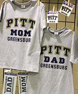 Show your Pitt parent pride with these t shirts and car