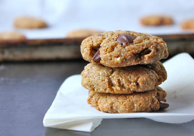 Almond Butter chocolate Chip cookies | Yum | Pinterest