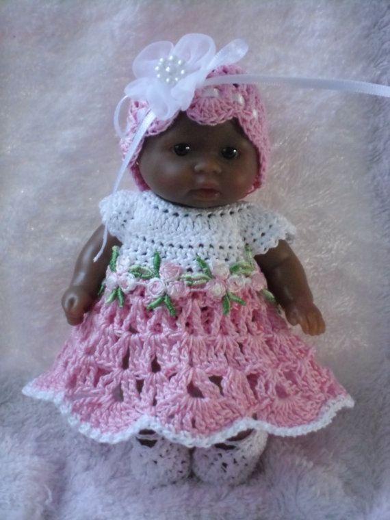 Crochet pattern for Berenguer 5 inch baby doll - dress ...