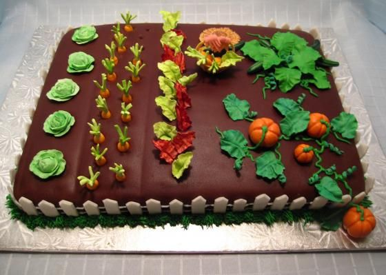 Cake Decorating Ideas Garden : Garden Cake Cake Decorating Pinterest