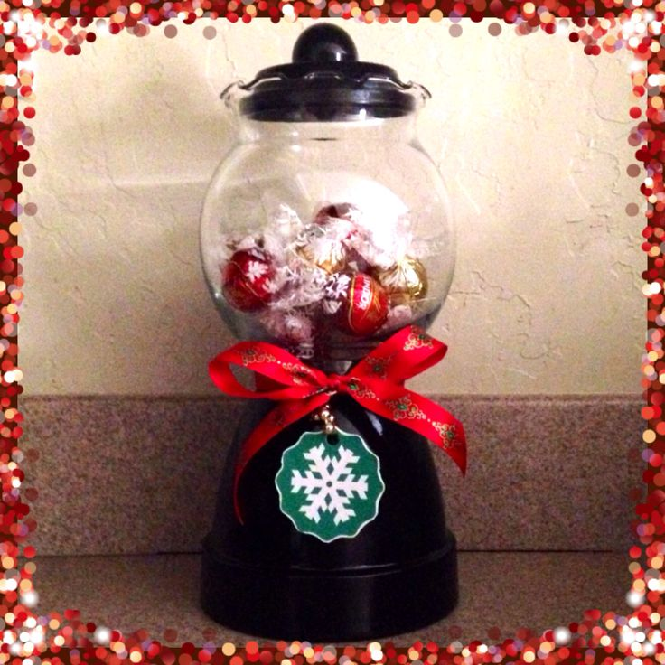 DIY gift idea. Gumball candy machine for Christmas. great teacher gift or neighbor gift