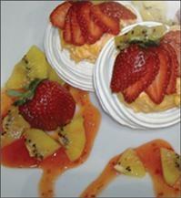 Strawberry Kiwi Pavlovas | Pavlova | Pinterest