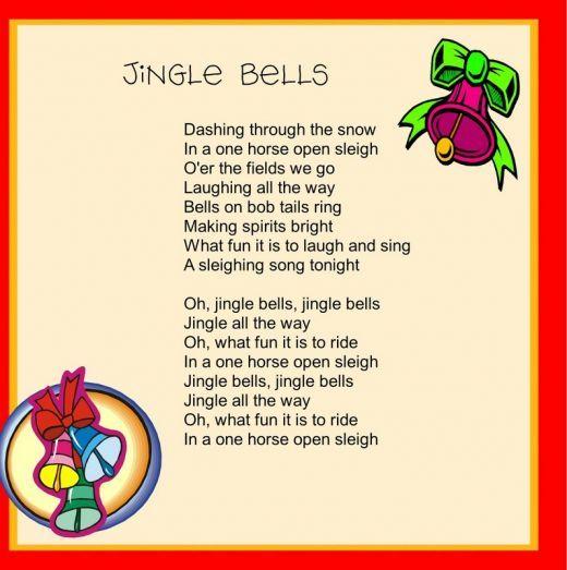 It is a photo of Divine Jingle Bells Lyrics Printable
