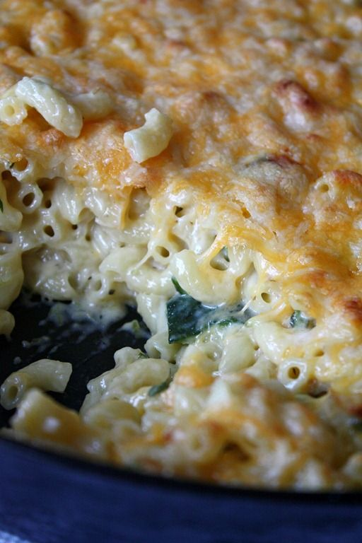 Poblano Macaroni and Cheese: fresh roasted poblano peppers mixed with ...