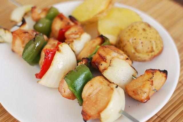 Honey Chicken Kabobs | Grillin & Chillin | Pinterest