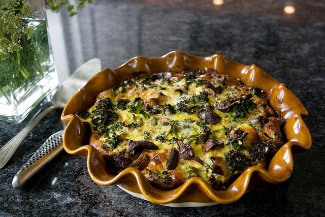 Mushroom, Broccoli & Cheddar Frittata. This oven-baked frittata was ...