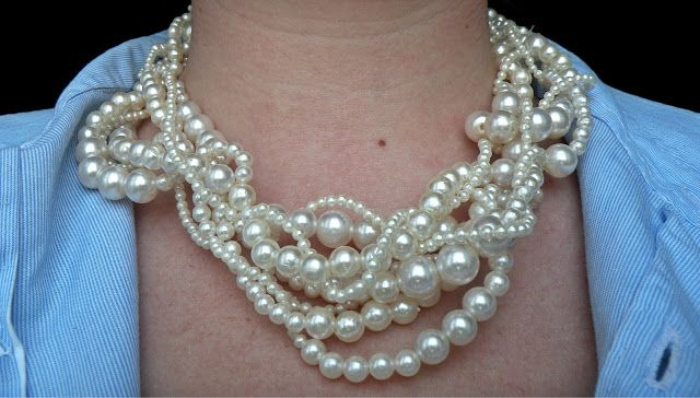 diy pearl necklace jewelry making ideas pinterest