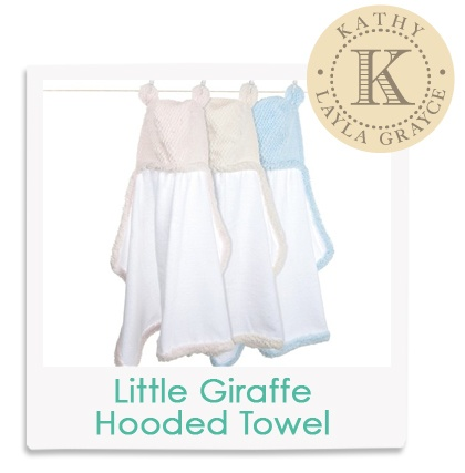 Kathy's Fave! Little Giraffe Luxe Twist Hooded Towel  #laylagrayce #insiderfaves