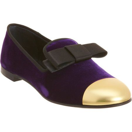 Giuseppe Zanotti Bow Cap Toe Loafer at Barneys.com