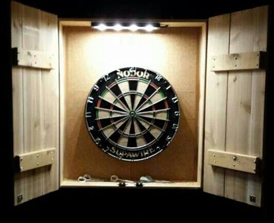 Diy dartboard cupboard home decor pinterest for Diy dartboard lighting
