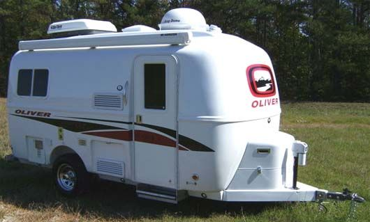 Oliver Legacy travel trailer exterior Camping