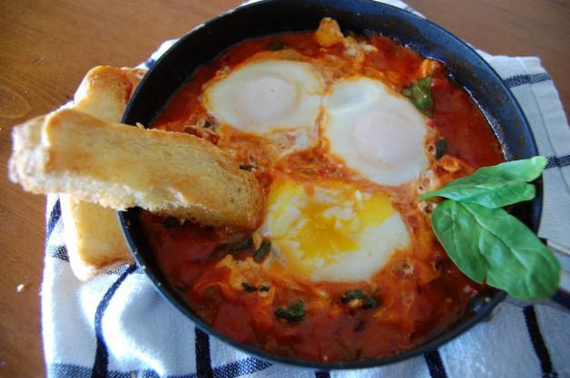 Eggs in Purgatory w/ Spinach and Feta (for 2!) Prep Time: 10 minutes ...