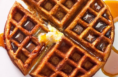 Gingerbread Waffles with Vanilla Bean-Orange Butter — Punchfork